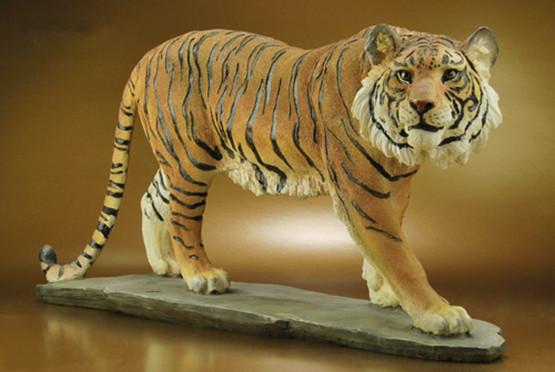 Tiger sculpture garden furnishing articles resin simulation crafts outdoor garden landscape animal ornaments(China (Mainland))