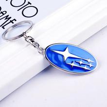 New Emblem Subaru Key chain ring High Grade Car Logo keychain Keyring Metal Zinc Alloy Llaveros Chaveiro for Subaru key holder(China (Mainland))