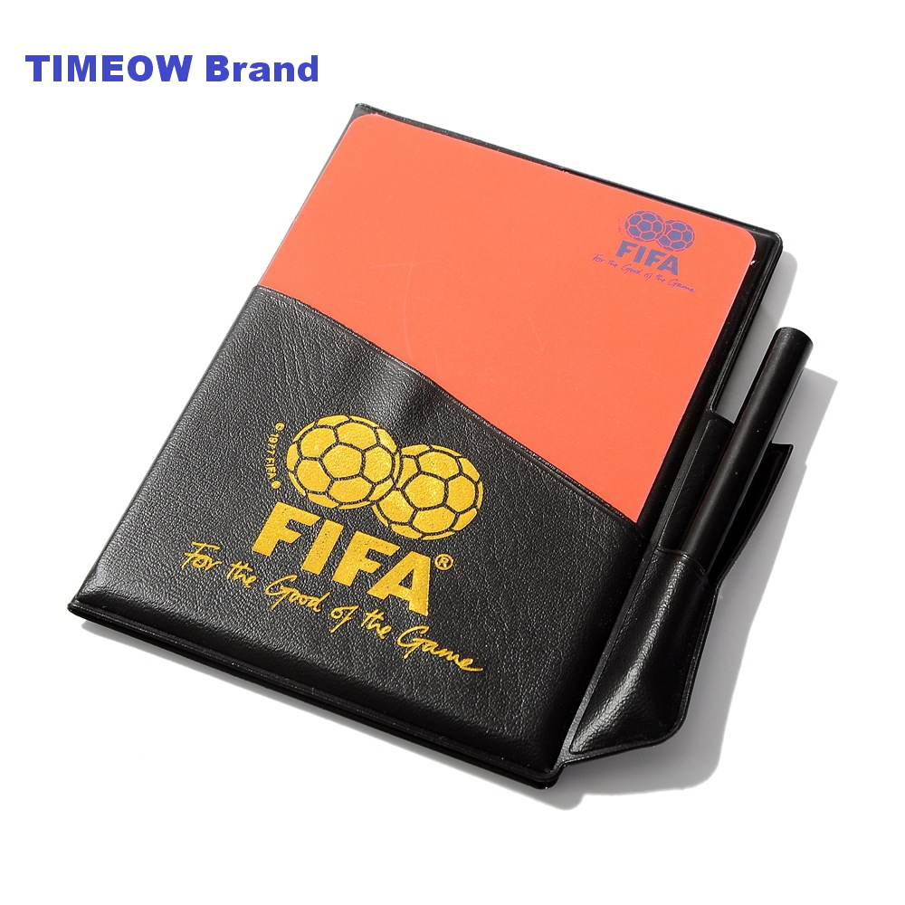 Football Referees Fluorescent Red Yellow CARDS Judge Case Soccer and Other Sports Professional Equipment Clear Bright Color(China (Mainland))