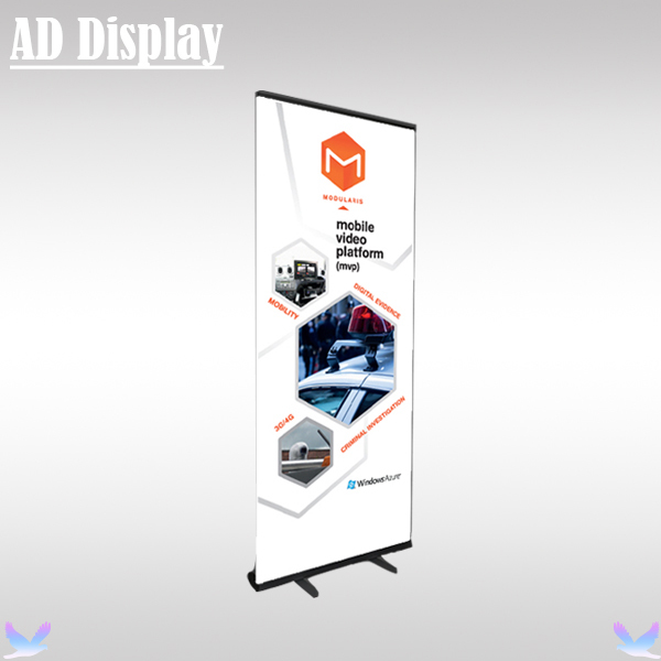 85*200cm 6PCS Black Color Durable Advertising Equipment Premium Roller Banner Display Stands,Trade Show Aluminum Pull Up Banner(China (Mainland))