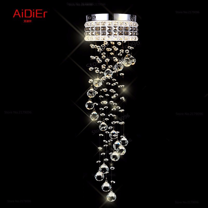 modern LED Crystal Light aisle small vestibule Spiral staircase chandelier lamp corridor hallway lights balcony aisle lighting