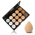 15 Color Contour Face Cream Makeup Concealer Palette with Sponge Cosmetic Puff Makeup tool set