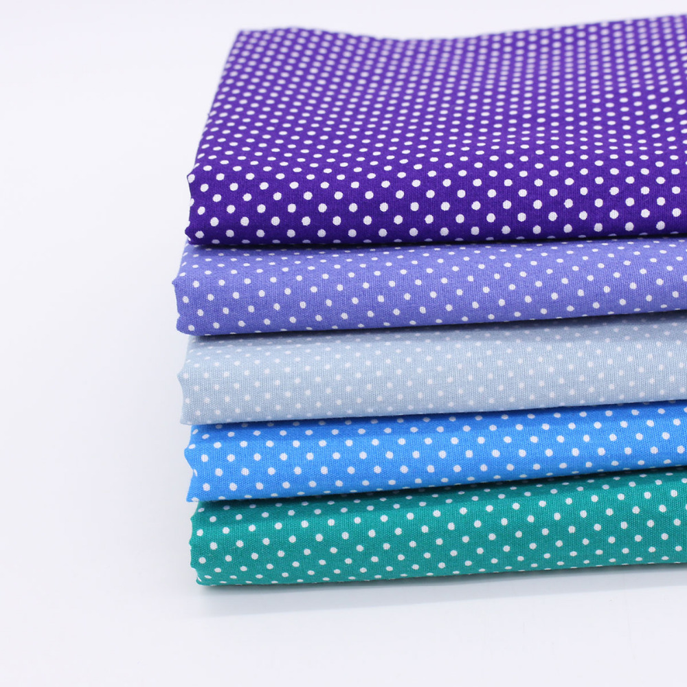 Assorted Navy Anchor Cotton Fabric Lot Stripe Polka Dot Cloth Handmade Patchwork Sewing Quilting 50*50cm - C&M store