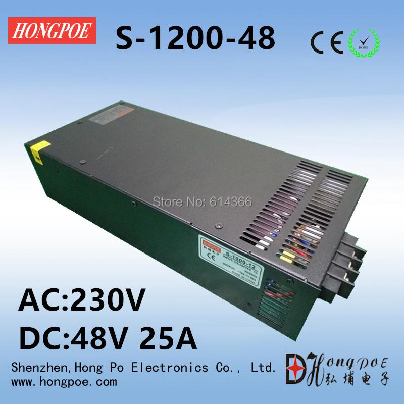 Free Shipping DC 48V 25A power supply 48V adjustable power AC-DC High-Power PSU 1200W(China (Mainland))