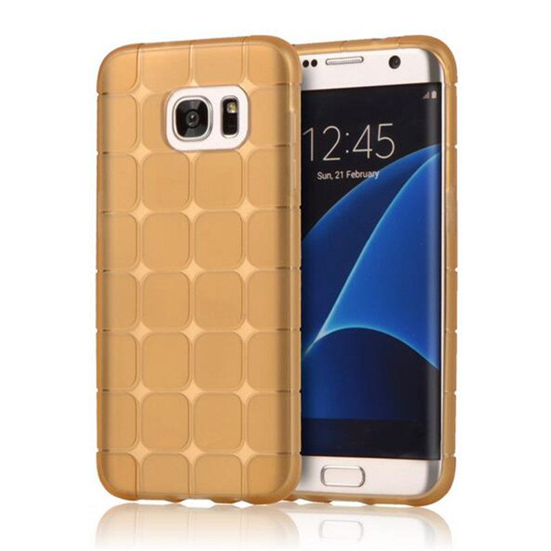 HOT sale for Cube Square Pattern soft TPU Phone Case For Samsung Galaxy S7 S7 plus S6 S6 edge note 5 4 on7 more color back Cover(China (Mainland))