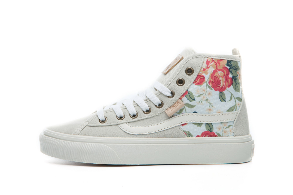 Vans classic sk8-hi slim women outdoor autumn high top canvas shoes for female cute skateboarding sneakers(China (Mainland))