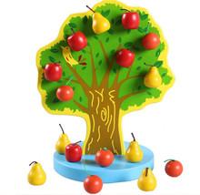 Новый деревянная игрушка магнитного моделирование фрукты дерево яблоко и груша детские игрушки бесплатная доставка