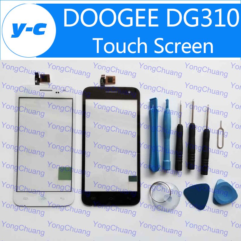 DOOGEE DG310 Touch Screen New Original Touch Digitizer glass panel Replacement Voyager2 Doogee DG310 MTK6582 phone+Track Code(China (Mainland))