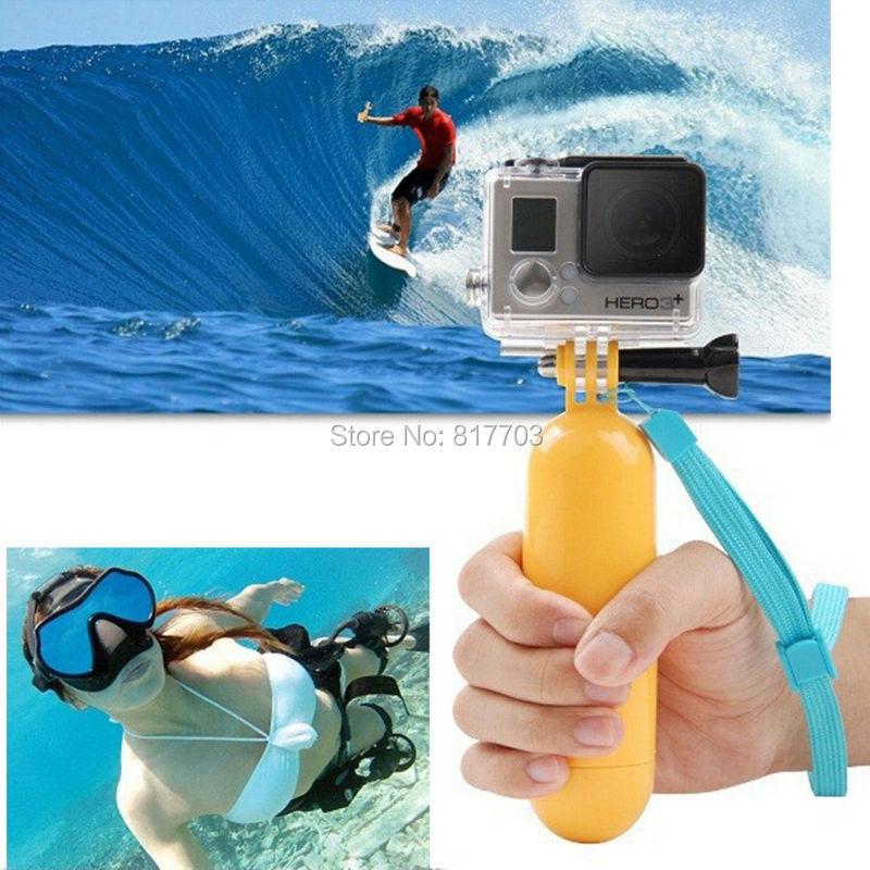 Yellow Water Floating Hand Grip Handle Mount Float Accessory for Gopro Hero 4/3+/3/2/1 Go pro Camera Sj4000 Sj5000 Sj6000 Sj7000<br><br>Aliexpress