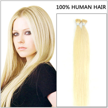 Pre Bonded Russian Hair Extensions Stick Tip Extensions Natural Color 100% Remy Human Hair Extension Keratine 0.5 Gram/ Strand(China (Mainland))