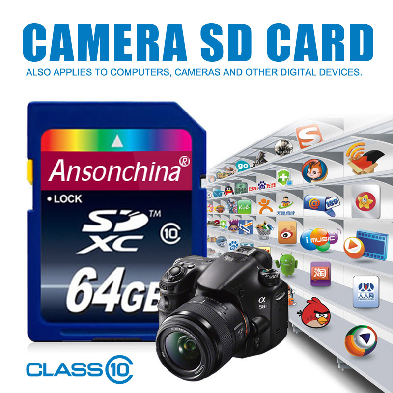 Memory card High speed 64gb class 10 sd card 4GB 8GB 16GB 32GB Transflash SDHC TF Card flash USB memory with Camera tablet PC(China (Mainland))