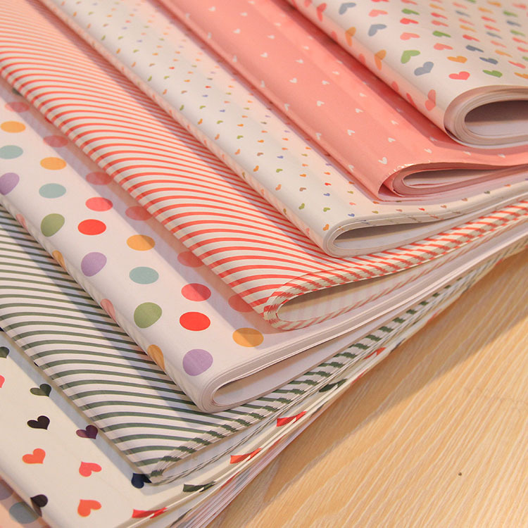 73 x 51cm cute dots and stripes 10 designs gift wrapping for Cute designs for paper