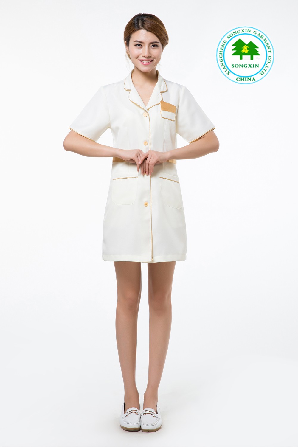 Free shipping oem salon work wear beauty salon clothing for Spa uniform colors