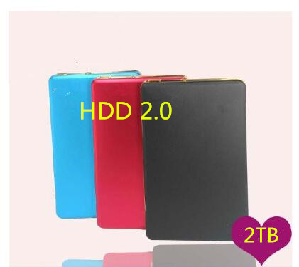 2017 Original 2.0 External Hard Drive Disk 2TB HDD Externo Disco HD Disk Storage Devices With retail packaging Free shipping(China (Mainland))