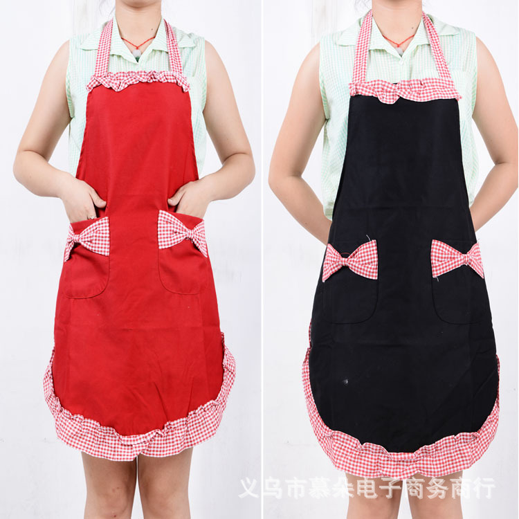 Factory direct selling / marketing aprons work aprons Korean version of thick cotton aprons wholesale Princess(China (Mainland))
