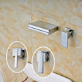 Factory Retail High Quality Wall Mounted Bright Chrome Bathroom Basin Sink Mixer Faucet
