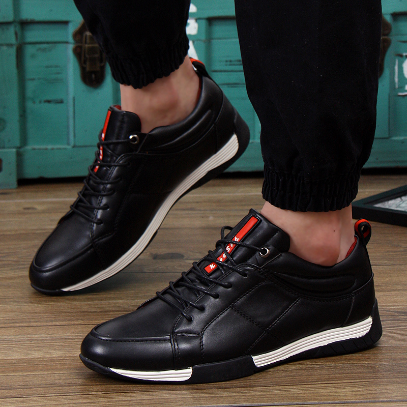 2015 New fashion men's PU sneakers driving shoes m...