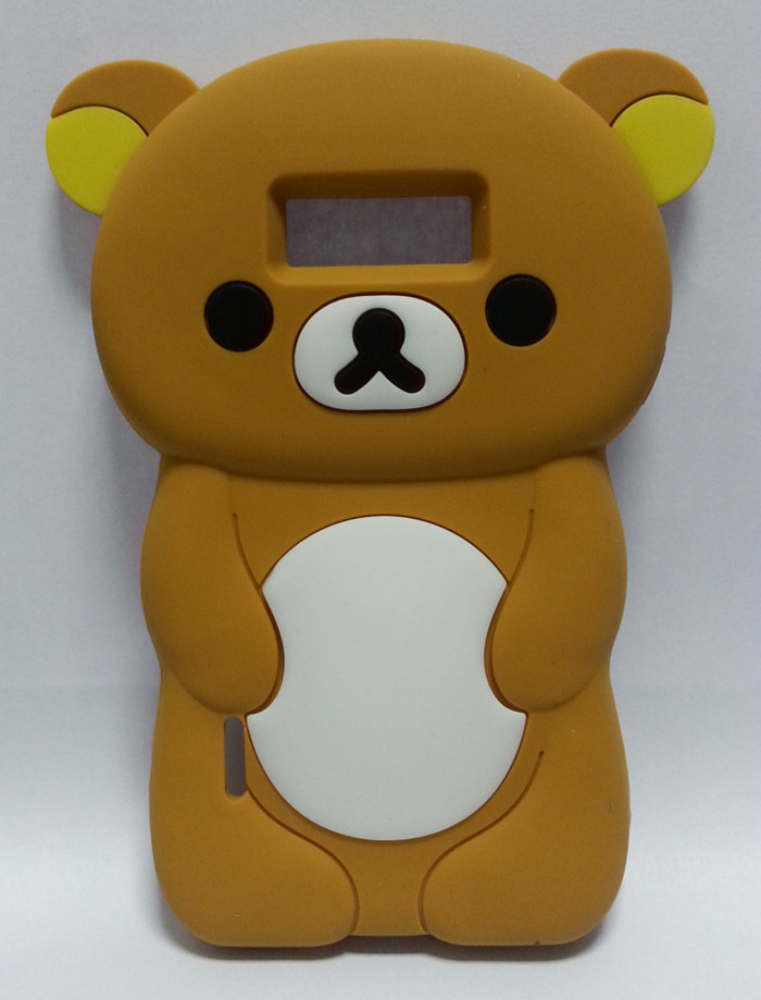 Lovely Cute 3D Cartoon Teddy Bear Case Cover LG Optimus L7 P705 Silicon Shell Cell Phone - Bobo shops store