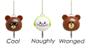 New Arrival 1 In 2 Cute Cartoon Bear Headphone Headset Audio Splitter 3 5mm Jack Universal