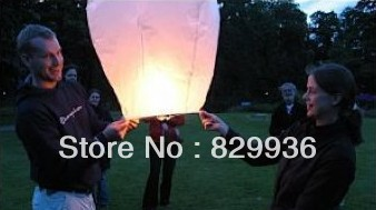 Free Shipping White Sky lanterns 10 PCS/Pack Wedding Birthday Chinese Flying Paper Wishing Light(China (Mainland))