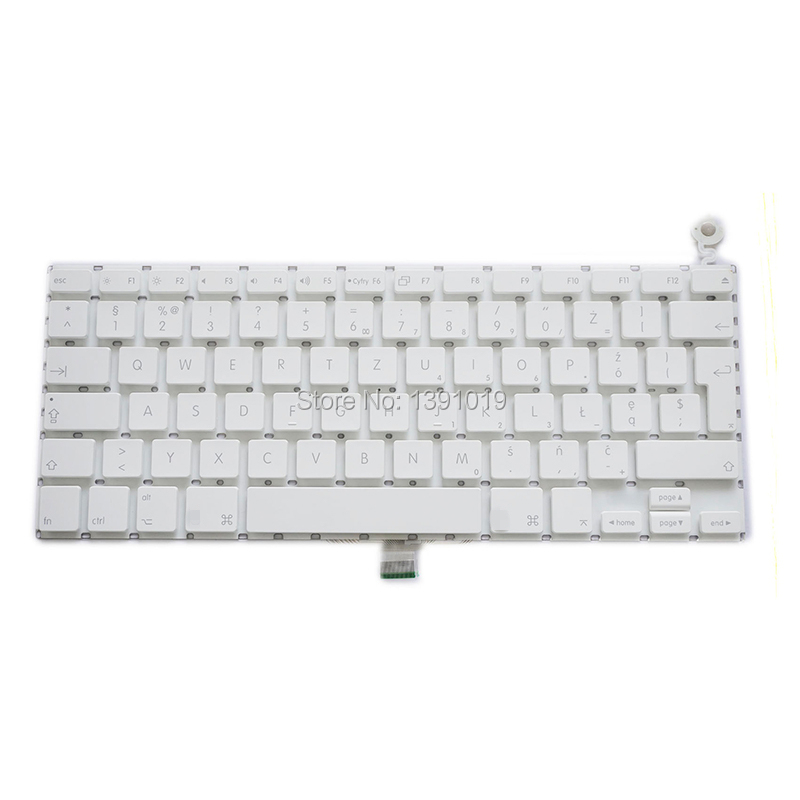 """A1181 Polish Keyboard For Apple Macbook 13.3"""" A1181 A1185 PL Language Keyboard White Color(China (Mainland))"""