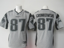 100% Stitiched,New England Patriots,Tom Brady,Rob Gronkowski with 50th SB patch(China (Mainland))