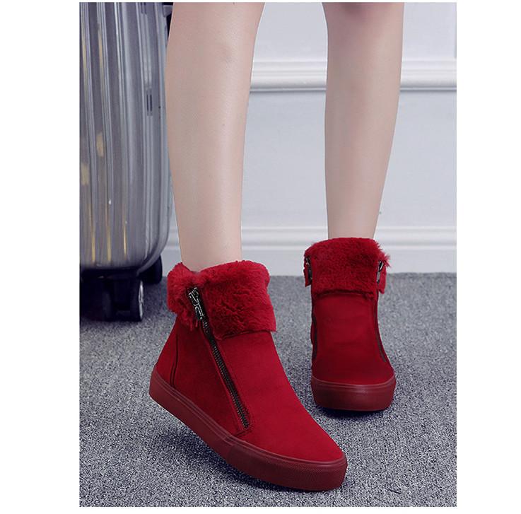 ซื้อ ใหม่ผู้หญิงรองเท้าฤดูหนาวรองเท้าหิมะ2017รองเท้าที่อบอุ่นในช่วงฤดูหนาวร้อนผู้หญิงขนาด35-40สีดำ/สีน้ำเงินเข้ม