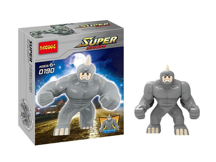 Decool 0190 Super Heroes Avengers Action Figures Building Blocks Minifigures Toy Big Lazy Rhino Figure Bricks toys - F & C Store store