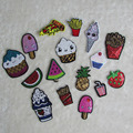 combination sale fruit food patch hot melt adhesive applique embroidery patch DIY clothing accessory patch 1pcs