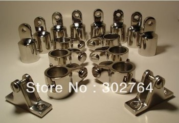 "4-Bow Bimini Top Boat Stainless Steel Fittings Marine Hardware Set 1""-16pcs"