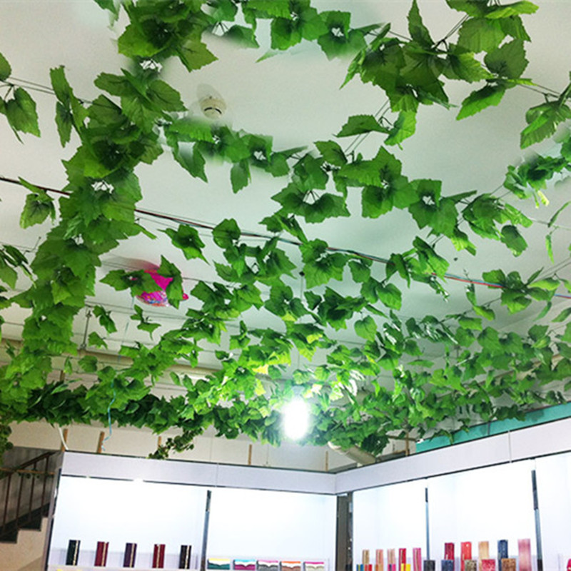 Buy artificial plants green grape vine for Artificial grape vines decoration