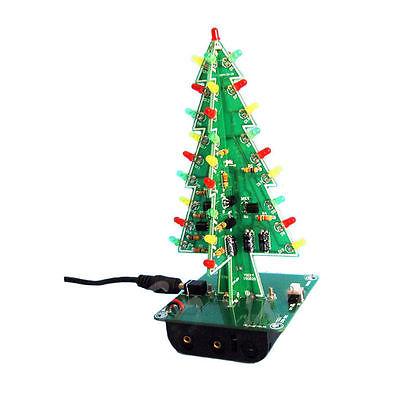 Christmas Trees LED DIY Kit Professional Flash Green Red LED Circuit(China (Mainland))
