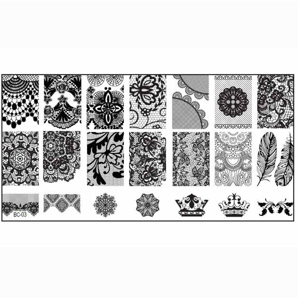 Гаджет   1PCS Nail Stamp Stamping Plate Nail Art Accessories Print Nail Art Template DIY Stamping Schablone  None Красота и здоровье