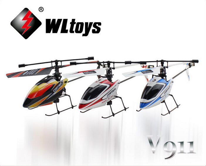Original Wltoys WL V911 Rc Mini Remote Control Helicopter 4CH 4 Channel shatter resistant Drone 2.4GHz GYRO LCD Children toys(China (Mainland))