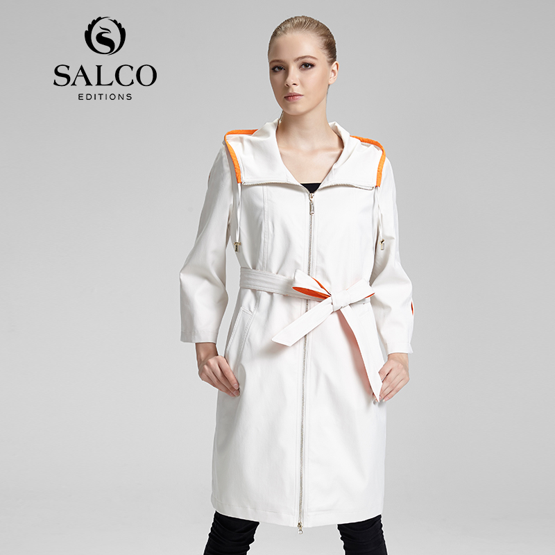 SALCO Free shipping new womens 2015 European and American fashion ladies windbreaker jacket and long sectionsОдежда и ак�е��уары<br><br><br>Aliexpress