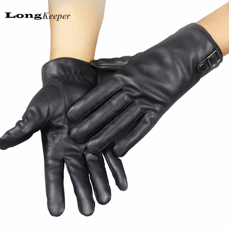 LongKeeper High Quality Winter Black Gloves for Men Full ...