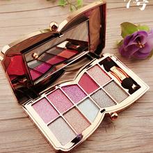 10colors Makeup Eyeshadow glitter of diamonds eye shadow palette professional makeup kit cosmetic maquiagem matte Eyeshadow(China (Mainland))