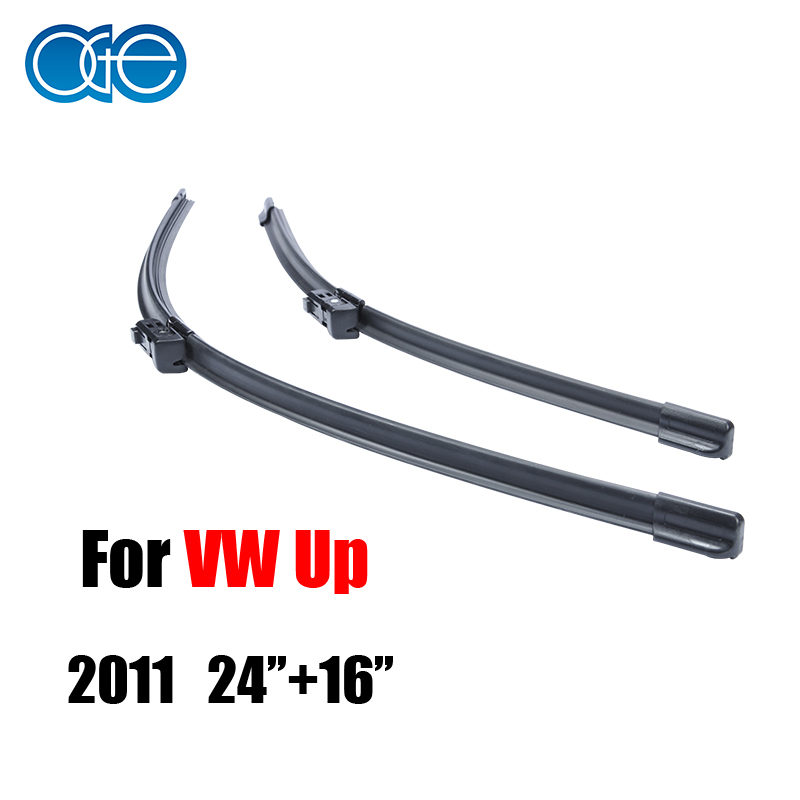 OGE auto Car windshield wiper blades prices For VW Up 2011,24''+16'' rubber strip,Car accessories.buttons CPC201(China (Mainland))
