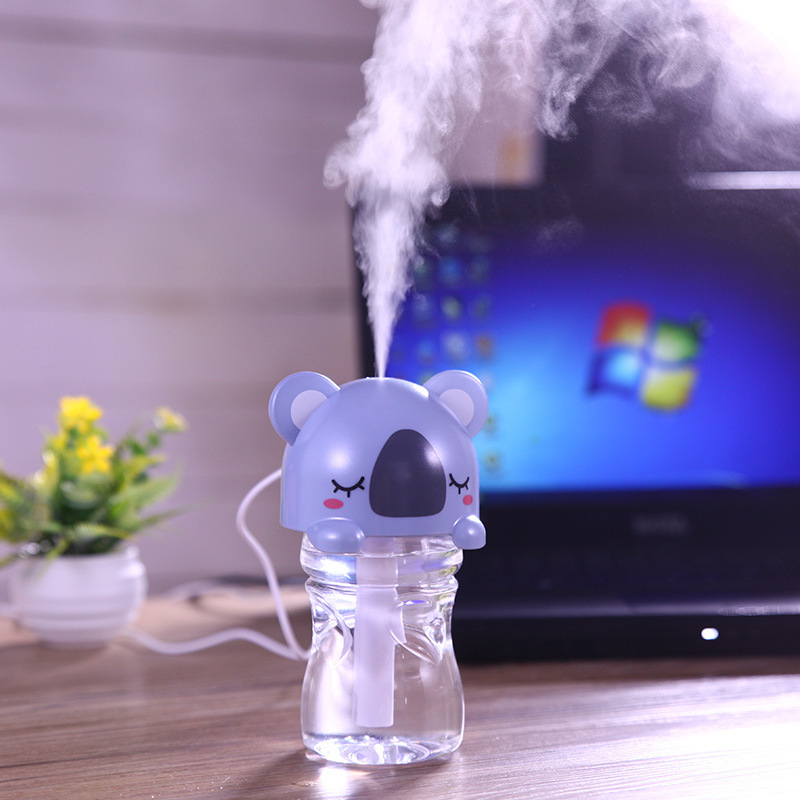 2pcs/lot Cartoon Animal Cap Humidifier Ultrasonic Air Humidifier Aroma Diffuser Huile Essentiel Oil Diffuser For Home Office Car<br><br>Aliexpress