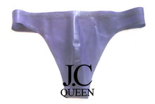 J.C Queen-free shipping Latex male underwear  shorts men's Briefs 100% pure natural latex handmade purple sexy(China (Mainland))