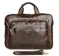 men s genuine leather briefcases male Vintage Cow leather business shoulder bags large handbag messenger bag