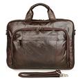 men s genuine leather briefcases male Vintage Cow leather business shoulder bags large handbag messenger bag