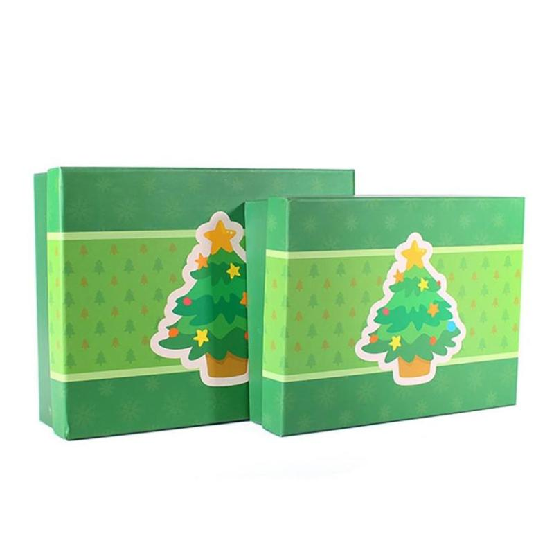 Christmas Tree Gift Cake Candy Packaging Box Party Dessert Paper Box Festival Gift Box Green Color 2 Size(China (Mainland))