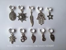Il trasporto libero 10 pz/lotto regolabile capelli treccia dread dreadlock beads clips polsino(China (Mainland))