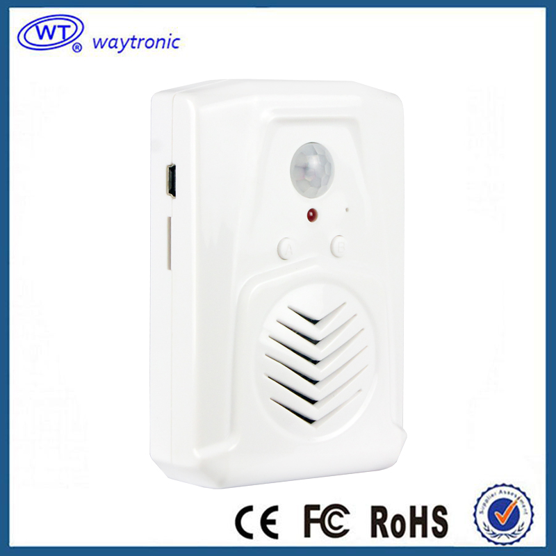 Wireless Indoor Mini Voice Amplifier Advertising Voice Broadcast Player For Show Room With PIR Motion Sensor Free Shipping(China (Mainland))
