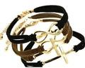 And the wind crosses 8 words woven bracelet Jewelry Korea velvet female S4006