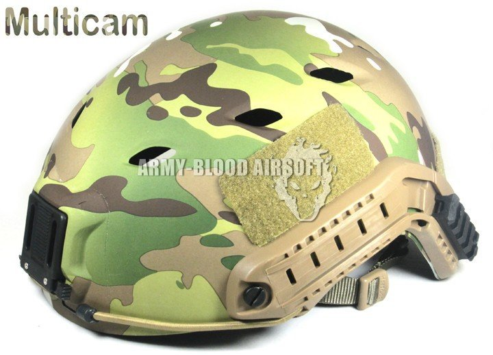 Ops-Core FAST Base jump Military Helmet(Multicam)with ARC Rails NVG Mount