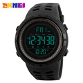 SKMEI Chronograph Sports Watches Men Double Time Countdown LED Digital Watch Military Waterproof Wristwatch Alarm Clock