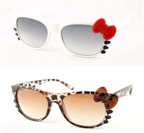 Hot sale  high quality  hello kitty sunglasses   Fashion KT  Girls sunglasses UV400  Free shipping
