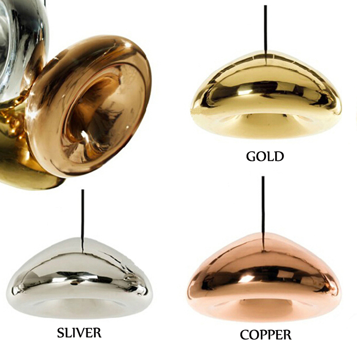 Tom Dixon Void Copper Brass Bowl Mirror Glass Bar Art Modern E27 LED Pendant Lamp Hanging Wire Lighting chandelier Lights 30CM(China (Mainland))